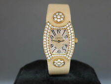 DeLaneau Princess 18k YG Pave Diamond Case & Dial