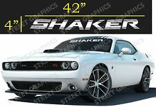 DODGE SHAKER WINDSHIELD DECAL STICKERS (white)
