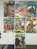 Classics Illustrated Lot of 6 Golden Age G/VG