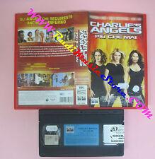 VHS film CHARLIE'S ANGELS PIU' CHE MAI 2003 Cameron Diaz Lucy Liu (F1) no dvd
