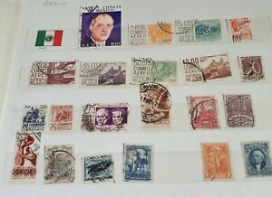Mexico stamps used mixed lot 1950's to 1970's