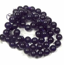 """12mm Amethyst Dyed Round Beads 15"""" Stone"""