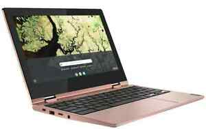 "Lenovo Chromebook C340-11 Flip 11.6"" Touchscreen 64GB Intel Celeron N4000 -Pink"