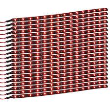 20Pcs 12V 15 LED 30cm Car Motor Vehicle Flexible Waterproof Strip Light Red