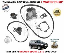 FOR MITSUBISHI SHOGUN SPORT 2.5DT 2000-2009 TIMING CAM BELT KIT + WATER PUMP