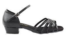 Women's West Coast Swing Salsa Ballroom Dance Shoes 1 inch low Heel 802FT