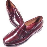 G.H. Bass Weejuns Burgundy Slip On Penny Loafer Shoes Size 12 D Men's