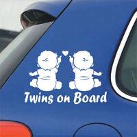 Lovely Baby Twins On Board Car Sticker Auto Window Decoration Cartoon Decals~