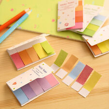 2xRainbow Post Bookmark It Flags Marker Index Tab Sticky Notes Page Notepad Memo