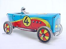"Ufuk Turkey 1930 HISTORIC ""BOATTAIL"" RACING CAR Wind-Up Tin Toy NM`50 ULTRA RARE"