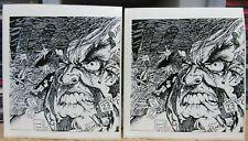 2 Vintage Mad Mark Rude Stickers - Misfits Earth A.D. Artist - Samhain - Danzig