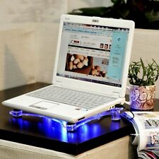 Acrylic Notebook Transparent 3 Fans Laptop Radiator Heat Sink USB Cooler Cooling