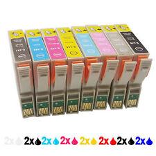 16 patronen kompatibel für Epson stylus photo 2100 2200 Neu Mit Chip