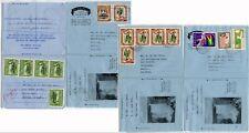 BRITISH GUIANA + GUYANA OPTS AIRLETTERS MULTI FRANKINGS 4 ITEMS 1966-67 FALLS