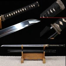 JAPANESE NINJA SAMURAI SWORD CARBON STEEL FULL TANG BLADE DOUBLE BLOOD GROOVE