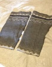 Gorgeous Grey Aztec Style Knitted Cuff Boot Toppers Adult