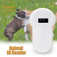 RFID 134.2Khz ISO FDX-B Animal Pet Dog Reader Microchip Handheld Ear Tag Scanner