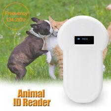 134.2Khz RFID ISO FDX-B PER CANE ANIMALE Lettore Microchip Scanner PALMARE marchio AURICOLARE
