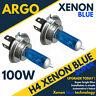 H4 100w 8500k Xenón Hid Azul Hielo Cuero Aspecto Faro Delantero Luces Bombillas