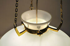 Messing Opalglas Pendelleuchte Jakobsson Ära design lampe vintage loft style
