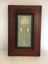 Motawi Long Stem Art Tile in a Family Woodworks Oak Park Arts & Crafts Frame