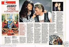 Coupure de presse Clipping 1990 (2 pages) Johnny Hallyday et Adeline