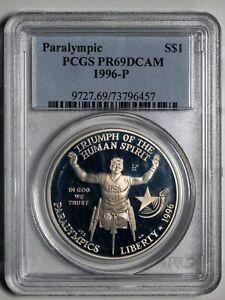 1996 P PCGS PR69DCAM Paralympic Commemorative Silver Dollar Item#P13694
