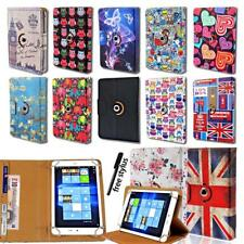 """Rotating 360 Stand Wallet Leather Cover Case For Various 7"""" 8"""" Chuwi Tablet"""