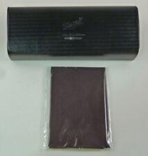New Authentic Sturdy PEARSOL Black Hard Fliptop Eyeglass Sunglass Case + Cloth