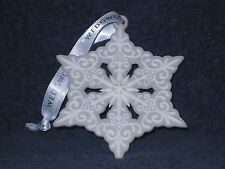 Wedgwood 2015 Pierced SnowFlake Grey Ornament - 40009022 - Nib