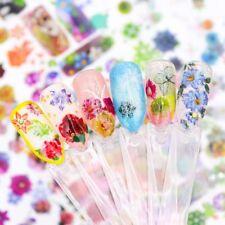 8 Arten Schmetterling Blume Nagel Aufkleber Wassertransfer DIY Maniküre Decor