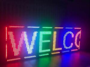Außen LED-Laufschrift 96x32 Pixel Multi-Color WiFi Werbetafel programmierbar