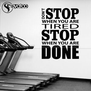 Don't Stop Motivational Quote Vinyl Wall Sticker Decal Sports Gym Fitness Office