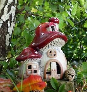 Teelichthalter Fliegenpilz Pilz Windlicht Landhaus Shabby Geschäftsauflösung