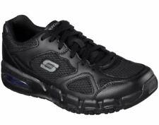Skechers Work Relaxed Fit 77131 Men's Pittstor  Soft Toe Work Shoes Black