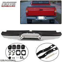 NEW For 1995-2004 Toyota Tacoma Pickup Chrome Complete Rear Bumper Assembly