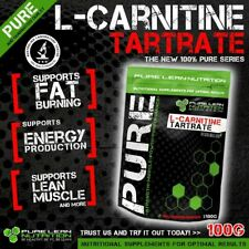 PURE L CARNITINE TARTRATE 100G PREMIUM GRADE * WEIGHT LOSS * FAT BURNER * ENERGY