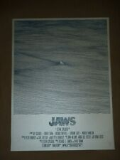 Jaws Bartosz Kosowski signed numbered movie poster art print Steven Spielberg