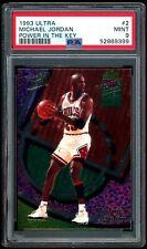 Michael Jordan 1993-94 Fleer Ultra Power in the Key Insert #2 PSA 9 MINT