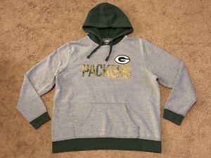 Women's Majestic Green Bay Packers Hoodie Sweatshirt Size XL