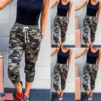 Womens Jogger Pants Camouflage Joggers Elastic Waist Casual Sweatpants Trousers