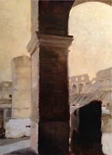 """""""coliseum"""" an original oil painting on canvas  paper"""