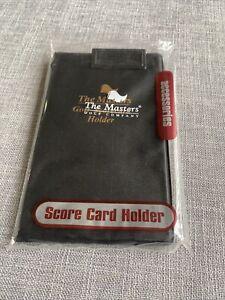 Masters golf score card holder