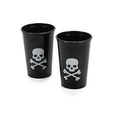 25 Skull & Crossbone Plastic Shot Glasses Halloween Haunted House Pirate Party