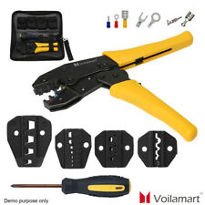 Cable Crimper Tool Kit Wire Terminal Ratchet Plier Crimping Set