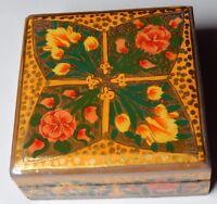Decorative Antique Style Handmade Paper Mache Gift Jewelry Spice Trinket Box 07