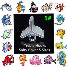 size 5#  25-pcs Fishing Treble Hooks Cover Protector Case