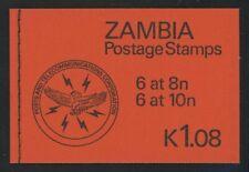 Zambia 1981 1.08K Black on Orange booklet SG# SB9 NH