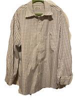 Orvis Men's Long Sleeve Shirt Plaid size XL 100% Cotton Blue Purple Red EUC