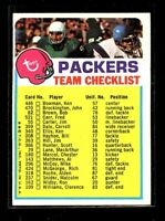 1973 TOPPS PACKERS CHECKLIST EX D023477
